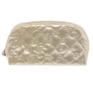 Chanel Silver Patent Leather Charms Cosmetic Bag